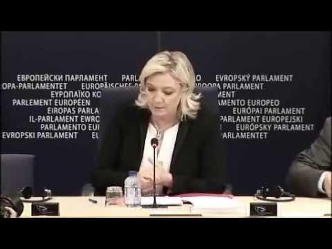BCE : Réactions de Marine Le Pen à l'annonce du président DRAGHI sur l'Euro