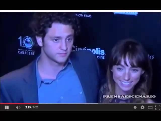 Christopher Uckermann y su novia Natalia Tellez en Premios Canacine 30/04/2014