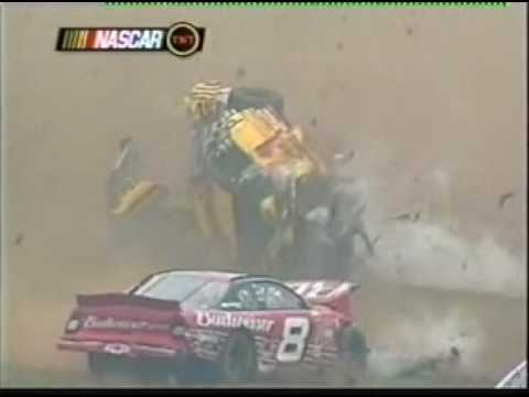 Steve Park Pocono crash - Live w/Replay