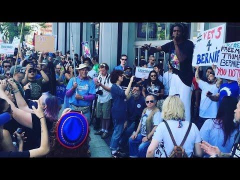 Occupy CNN: Bernie Supporters Protest Bernie Blackout