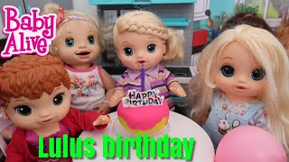 BABY ALIVE Lulus Birthday Party baby alive videos