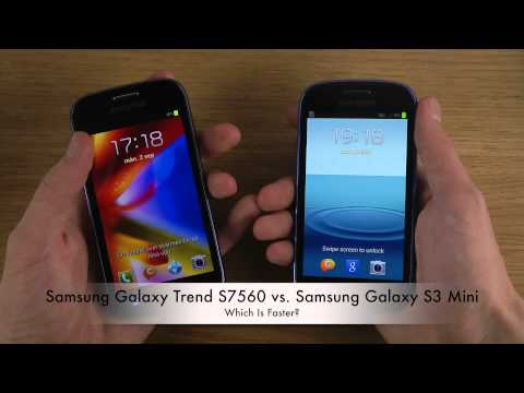 Samsung Galaxy Trend S7560 vs. Samsung Galaxy S3 Mini - Which Is Faster?