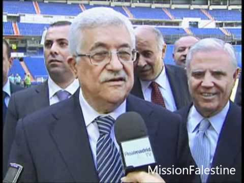 Mahmoud Abbas en visite au Real Madrid