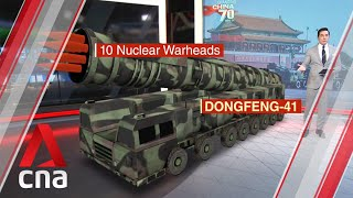 China's Dongfeng-41 missile - likely centerpiece at its 70th National Day parade?