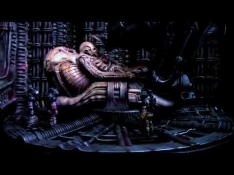 Prometheus space jockey youtube for Prometheus xenomorph mural