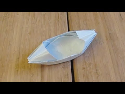 My Paper Boat That Floats On Water Origami Youtube