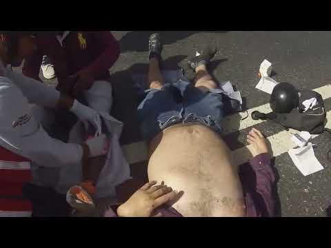 Paramedicos Motorizados en Accion // accidente en la bajada de tazon