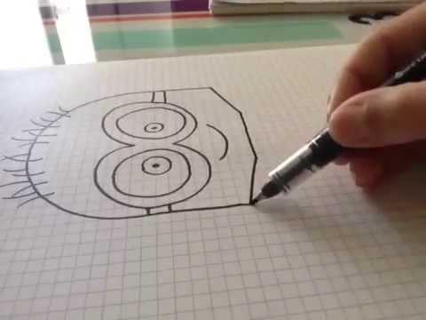 Apprendre dessiner un minion smiloo youtube - Apprendre a dessiner des animaux mignon ...