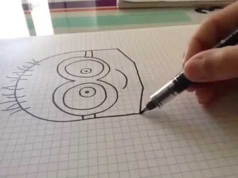 apprendre dessiner un minion smiloo youtube. Black Bedroom Furniture Sets. Home Design Ideas