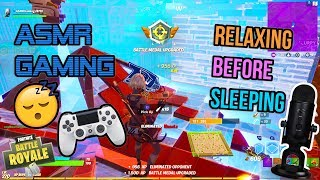ASMR Gaming 😴🎮 Fortnite Relaxing Before Sleeping Gameplay 🎧 Controller Sounds + Whispering 💤