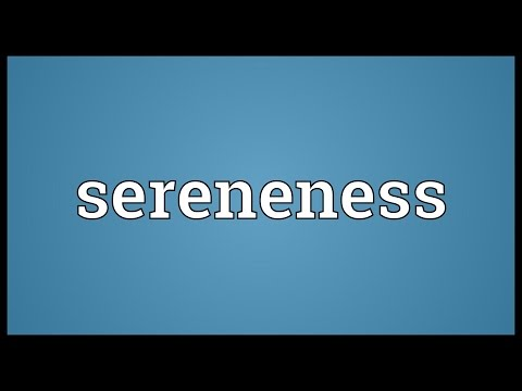 Header of sereneness