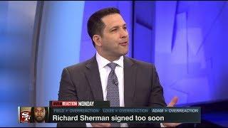Richard Sherman Signed Too Soon | NFL Live | Mar 12, 2018