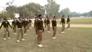 Up police trainning PT video in 2nd BN PAC sitapur