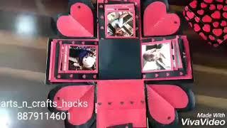 Valentine theme explosion box....❤❤❤