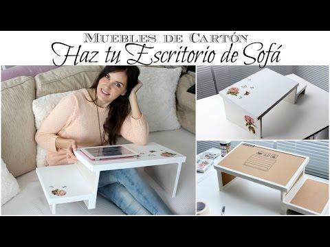 Muebles de Cartón Como hacer un Escritorio de Sofá de Cartón