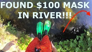 Found Ray Bans, Tusa Mask and Snorkel, Flask, Cash, Sunglasses in River!!! (River Treasure)