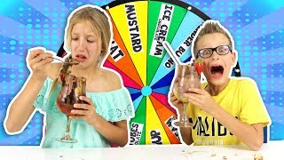 MYSTERY WHEEL OF ICE CREAM SUNDAE CHALLENGE!!