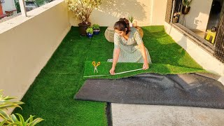 I tried setting up Artificial Grass for the first time | first thoughts|  Pros & Cons