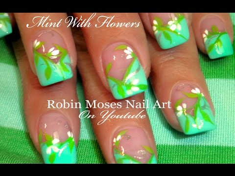 Easy White Flower Nail Art