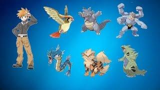 Pokemon XY Equipos Tematicos #01 Campeon/Lider de gimasio Blue/Azul/Green