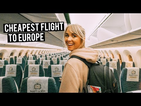 CHEAPEST FLIGHT to EUROPE | Perth to Berlin Scoot Inaugural Flight