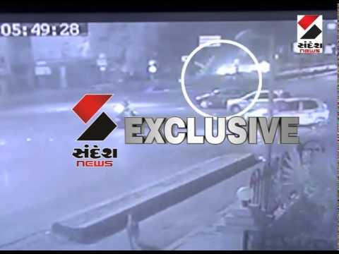 Car Accident in keshav baug at ahmedabad, See CCTV footage