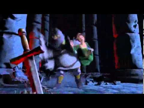 Shrek Escape From The Dragon Scene