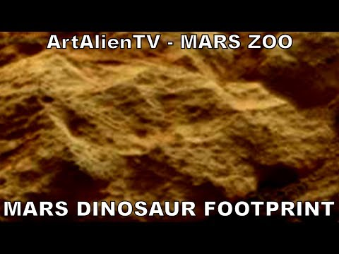 Large Dinosaur Footprint on Mars: NASA Curiosity Animal Specimens: ArtAlienTV - MARS ZOO 720p