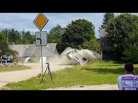 FIA ERC - Auto24 Rally Estonia 2016 - SS11 Katsuta Crash
