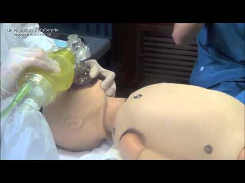 Como dar ventilación con presión positiva (VPP) con Ambú. RCP Reanimación