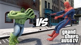 SPIDERMAN VS THE INCREDIBLE HULK - EPIC BATTLE - GTA IV
