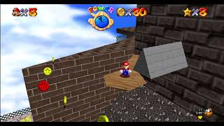 Red Coins on the floatting Isle: WHOMP'S FORTRESS: SUPER MARIO 64, 60fps, Widescreen