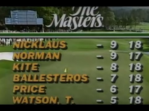 1986 Masters Full Sunday Coverage Jack Nicklaus Historic Come From Behind Win