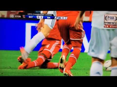 Bayern Múnich Vs RealMadrid (04-30-2014) PATADA DE DANTE A