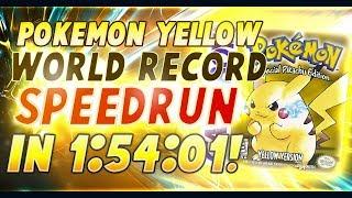 Pokemon Yellow World Record Speedrun in 1:54:01! [Current World Record]