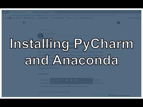 Install PyCharm and Anaconda on Windows, Mac, and Ubuntu