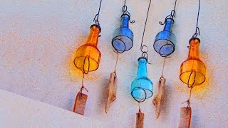 Wind Chime with Recycled Wine Bottles
