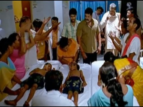 Badradri Full Movie Scenes - Children Die In Hospital, While Cause Not Known - Nikitha, Raja video