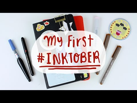 My 1st Inktober & Mini Sketchbook Flip Through
