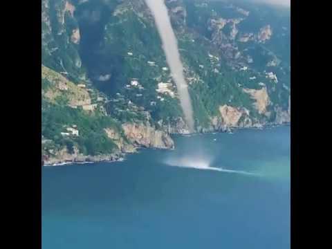 Impactantes imágenes de tornado en las costas italianas