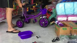 Hướng dẫn lắp ráp xe đẩy kiêm xe 3 bánh có mái che 618 by SHOPEE @shopchuyensi_xedep