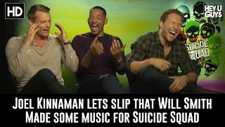 Will Smith & Joel Kinnaman let slip that Smith recorded some tracks for Suicide Squad