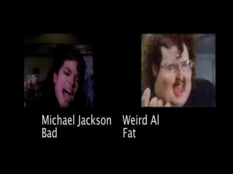 Michael Jackson- Bad Vs. Weird Al- Fat video