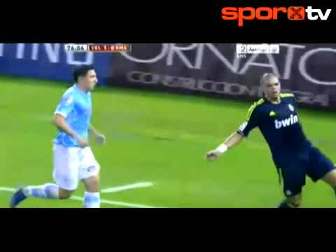 Pepe katır gibi tepti! video - Real Madrid, Pepe, Celta Vigo.MP4