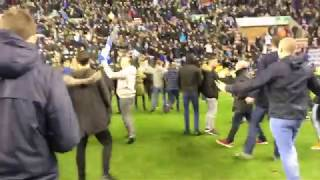 Pitch invasion !!! Wigan vs Man City game Fa cup