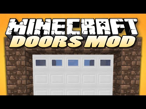 Minecraft Mods MALISIS DOORS Sliding Doors Block Mixing Mod Showcase