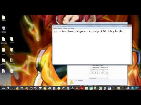 como descragar project 64 roms y guardar partidas en play 1