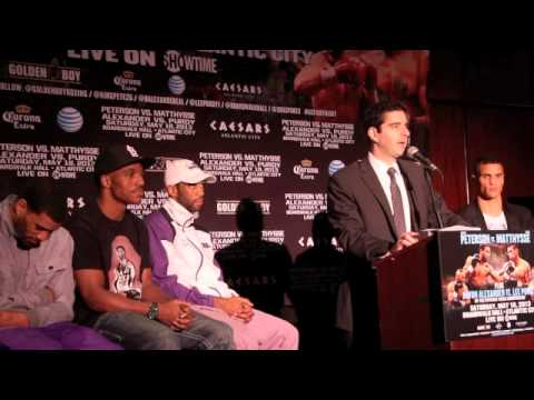 DEVON ALEXANDER v LEE PURDY / PETERSON v MATTHYSSE / FINAL PRESS CONFERENCE (NEW YORK)