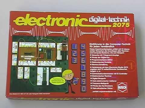 Busch 2075 Digital-Technik Elektronik Experimentierkasten 70er Jahre
