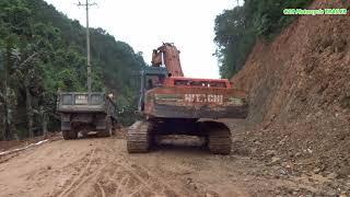 Kids Truck Video - Excavator Máy xúc lu đào đất xe tải chở công trường thi công